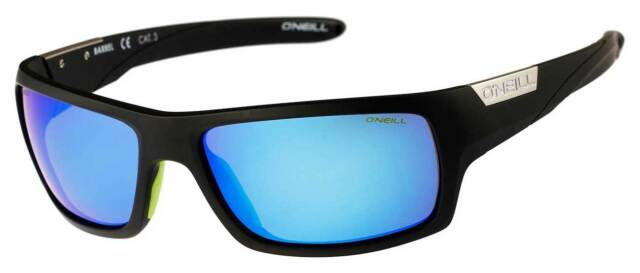 O'Neill Barrel Sunglasses - Matte Black / Blue Polarized - New