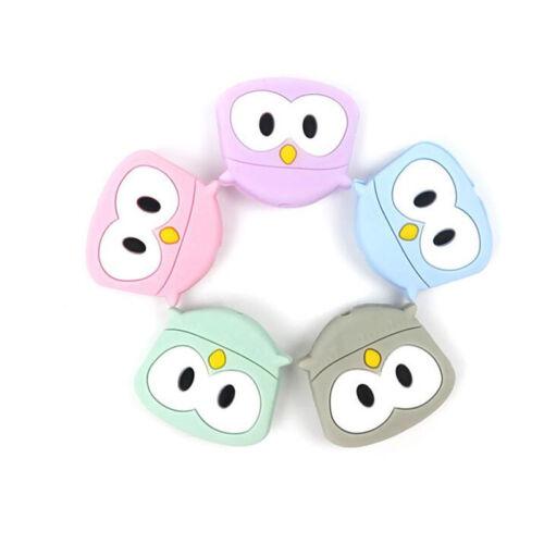 Silicone Cartoon Animal Mini Owl Beads DIY manual Baby Nursing Teeth Teether S