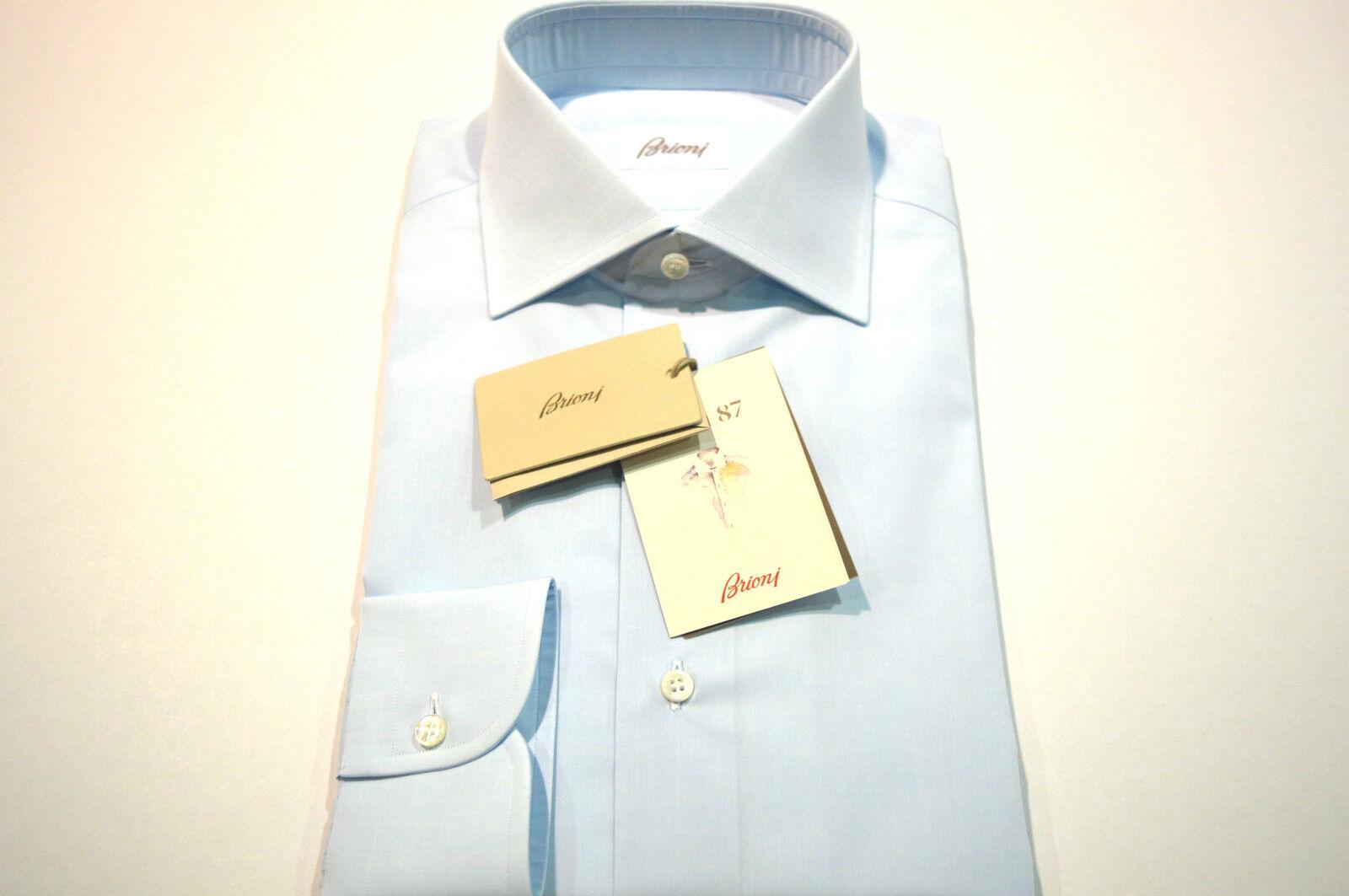NEW  BRIONI Dress hemd 100% baumwolle Größe 17.75 Us 45 Eu (Store cod FE2)
