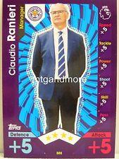 Match Attax 2016/17 Premier League -  M8 Claudio Ranieri - Manager