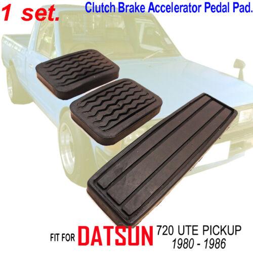 Datsun 720 UTE Truck 1983-1986  Black Rubbers Brake Clutch Accelerator Pedal Pad