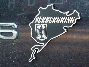 NURBURGRING Car Motorcycle Race Circuit Bike Decal Sticker Audi BMW 50mm
