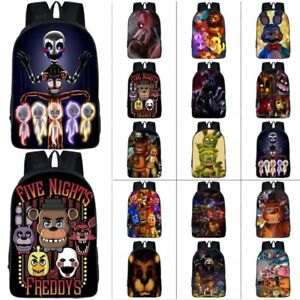 Details about UK Five Nights At Freddy's Backpack Chica Bonnie Rucksack Latop FNAF School Bags