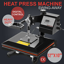 "Teflon 12""x10"" Clamshell Heat Press Transfer Digital Sublimation Machine T-shirt"