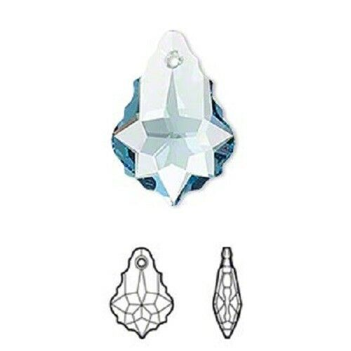 Swarovski elements crystal Baroque style 6090 crystal pendant 16mm 22mm