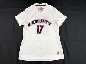 Nike-Liberty-Flames-White-Poly-Short-Sleeve-Shirt-Multiple-Sizes-Used