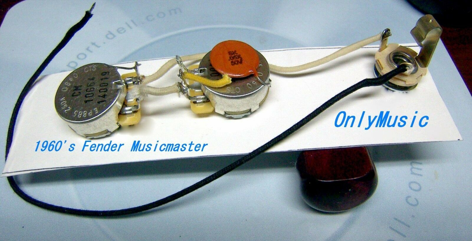 Kompatibel Fender Musicmaster 18.3ms Repro Klassischer Kabelbaum