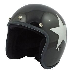 Casco-Bandit-Star-Jet-ORIGINALE-nero-Harley-Cafe-Racer-Chopper-Bobber-Vintage