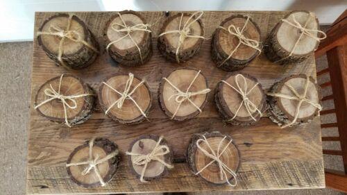 Rare Black Walnut Tree Wood Coasters with Bark 4-Pack