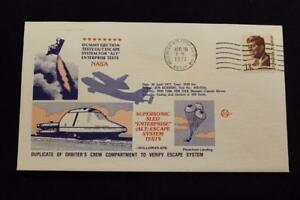 Raum-Abdeckung-1977-Maschine-Stempel-Shuttle-Enterprise-Escape-System-Test-486