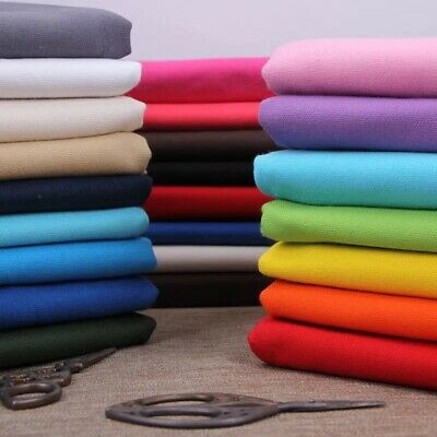 Cotton Soft Plain Fabric Cotton Linen Thicken Woven Fabric Craft Home Decoration