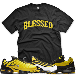 5232eedbb31cd Details about New BW BLESSED T Shirt for Nike Air Max Plus 97 95 Frequency  Pack Black Yellow