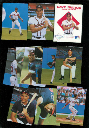 1991 Dave Justice Complete Box Card Set Barry Colla Atlanta Braves Photo