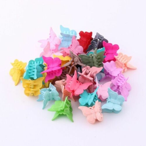 Mini Hair Claws For Baby Multi Colors Plastic Clips Butterfly Design Accessories