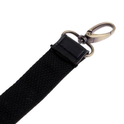 Adjustable Black Long Leather Canvas Shoulder Bag Handbag Strap Replacement