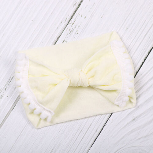 Baby Girls Kids Toddler Bow Knot Hairband Headband Stretch Cloth Head Wrap New