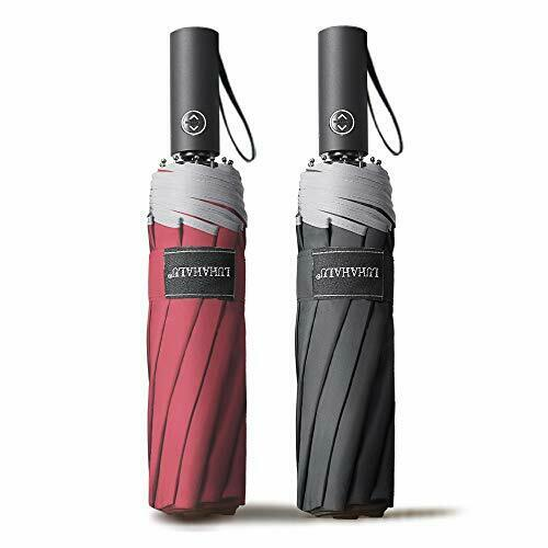 【Pack of 2】Travel Windproof Compact Umbrella for Rain, Automatic Folding