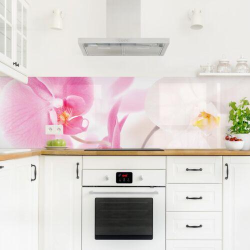 Küchenrückwand Delicate Orchids Panorama Spritzschutz Klebe-Folie Dekoration
