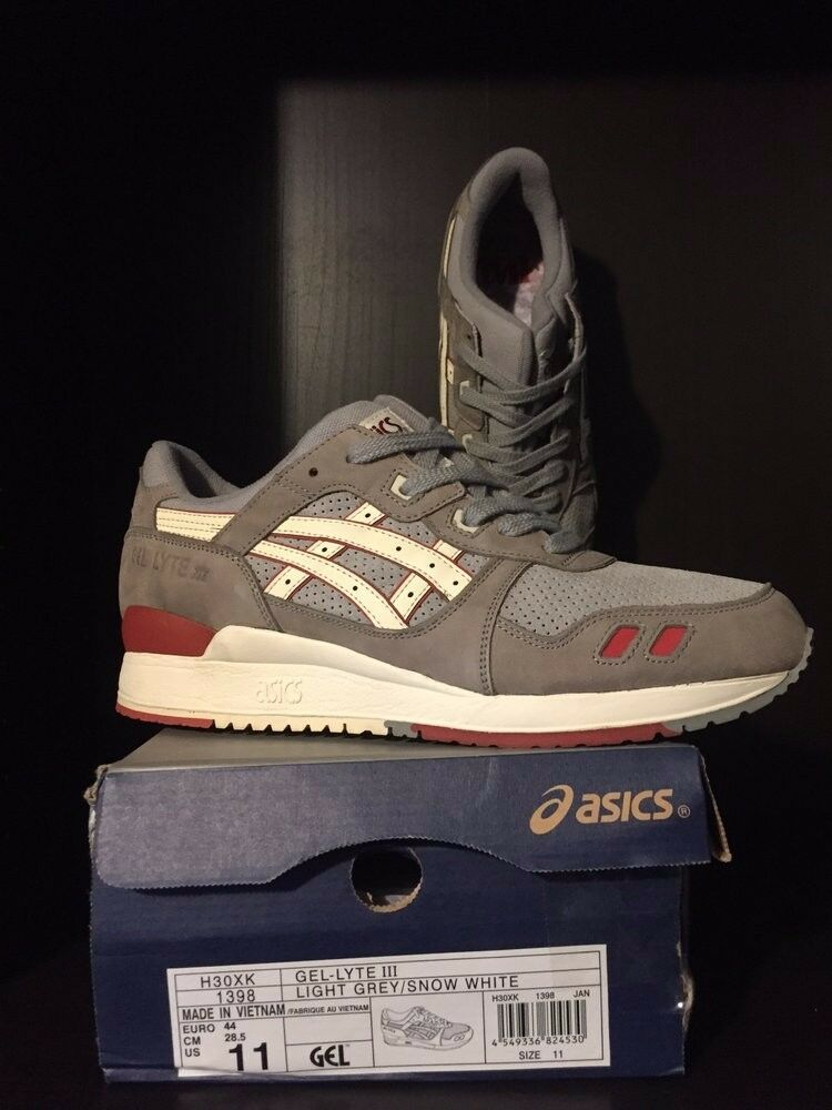 2013 Highs & Lows x Asics Gel-Lyte III  Mortar  (Canvas) - Size 11 - RARE