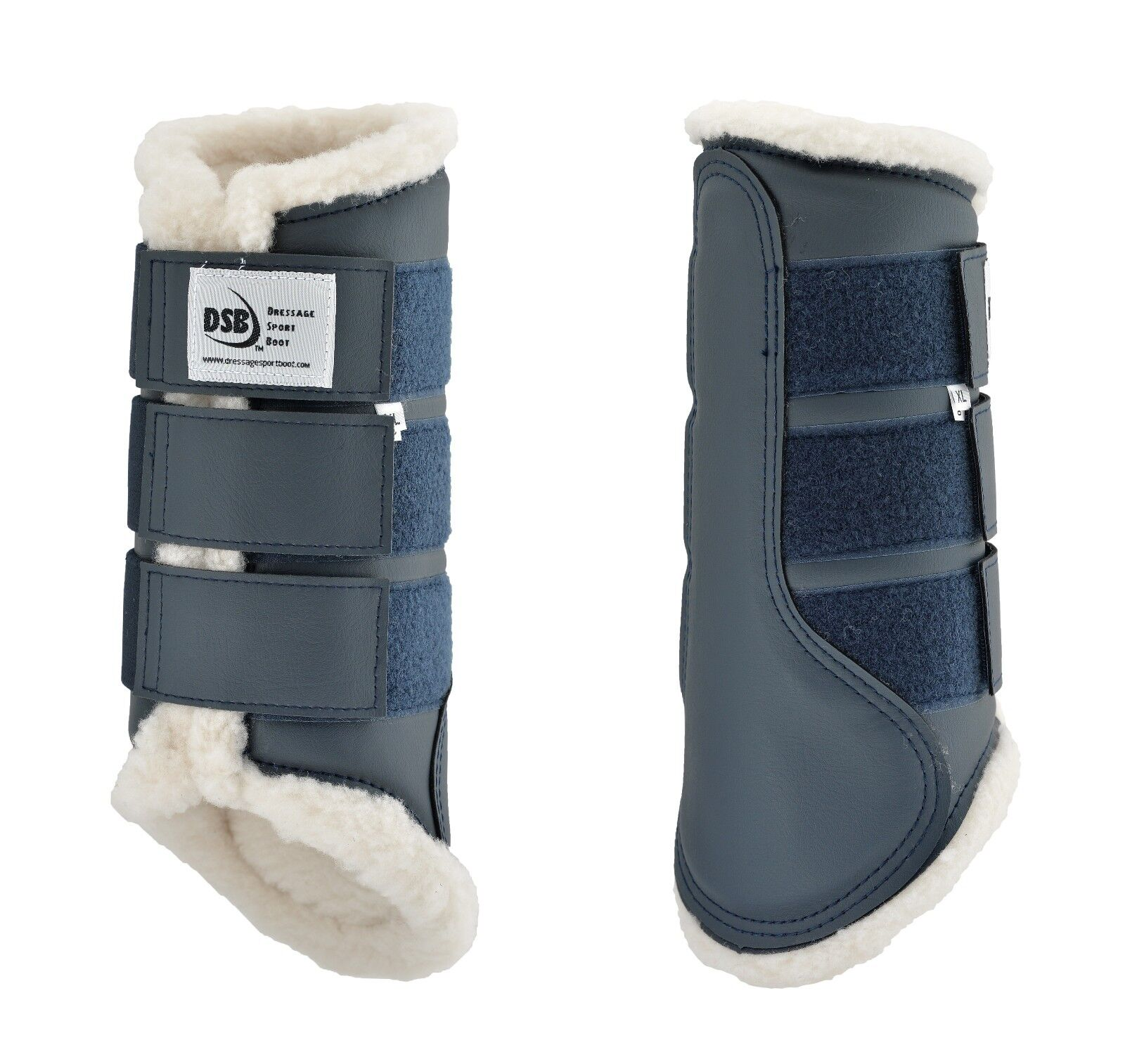 DSB Dressage Sport Fleece Boots - Navy - Different Sizes