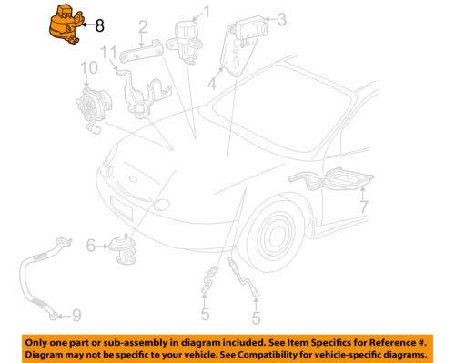 FORD OEM 00-03 Taurus 3.0L-V6 Emission-Vapor Canister Solenoid F7DZ9C915AA