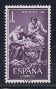 ESPANA-1961-NUEVO-MNH-SPAIN-EDIFIL-1400-NAVIDAD-SAGRADA-FAMILIA