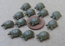 1:12 Scale Two Dolls House Miniature Plastic Tortoises Garden Pet Accessory T5