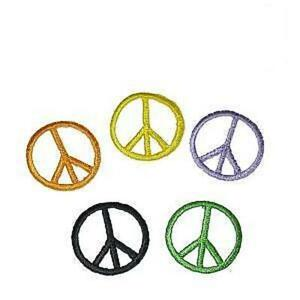 039-Peace-039-Sign-Iron-On-Appliques-x-5