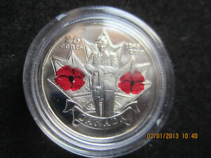 25 CENT POPPY 2010 COIN  REMEMBRANCE DAY CANADA QUARTERS  BU/UNCIRCULATED