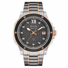 Bulova Men's 98D127 Marine Star Diamond Markers Quartz Two Tone Dress Watch
