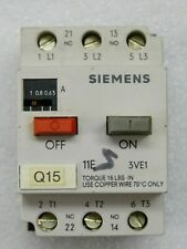 Siemens 3ve1010 2f Motor Protection Switch