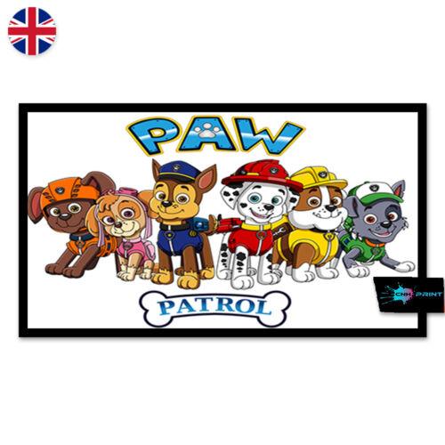 Paw Patrol Kids Poster Print A4 A3 Wall Art Home Decor Children TV Show 1450