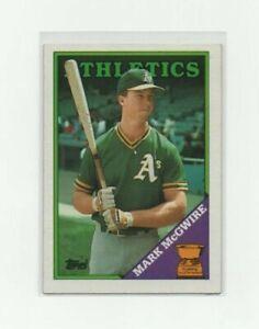 1988 Topps Mark McGwire #580 Baseball Card - Oakland Athletics