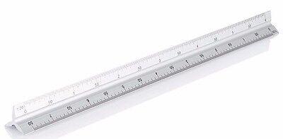 """12/"""" 300 mm en aluminium Règle Métrique et impérial Règle de mesure Mesure MS108"""