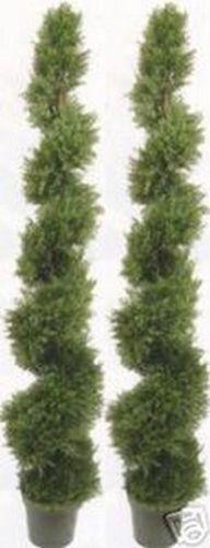 2 ARTIFICIAL CYPRESS IN OUTDOOR OUTDOOR OUTDOOR TREE 6'4  TOPIARY PLANT 3c20d3