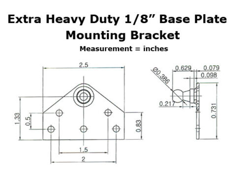 2ea RV Boat Nitro-Prop Heavy Duty Flat Flush mount Gas Strut Spring Mount Plate