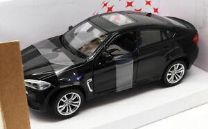 Rastar-1-24-SCALA-DIECAST-MODELLO-AUTO-56600-BMW-X6M-Nero