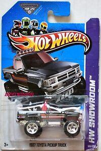 HOT-WHEELS-2013-HW-SHOWROOM-1987-TOYOTA-PICKUP-TRUCK-BLACK