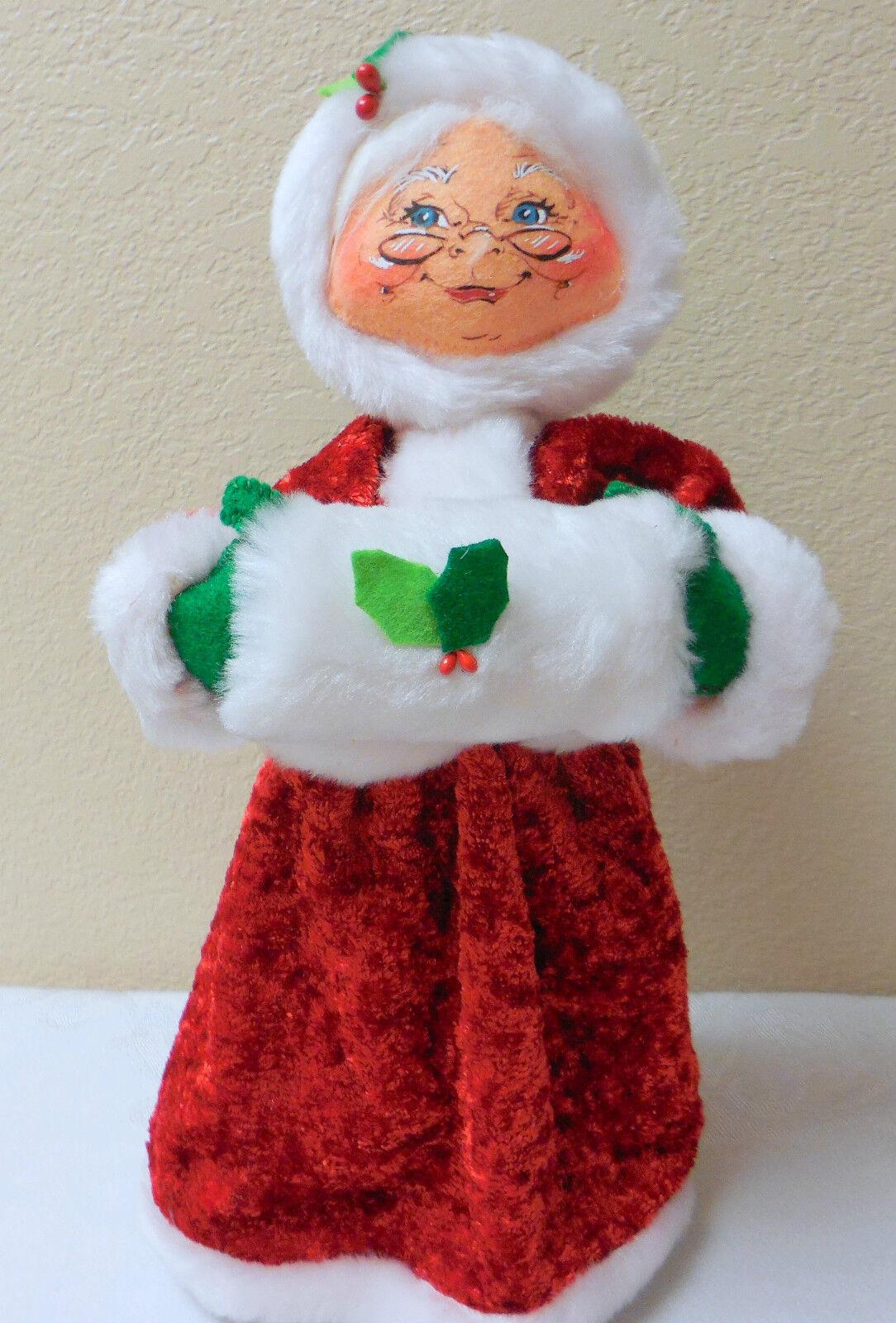 Nuevo con etiquetas 2012 Annalee Navidad 13   acogedor Navidad la señora Noel  Poseable
