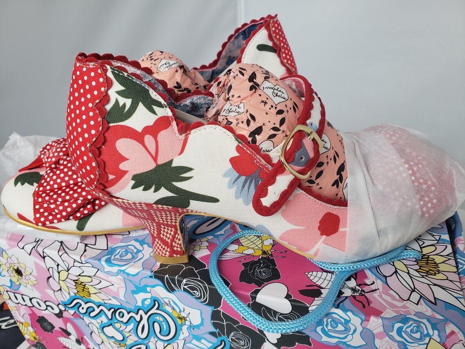 Irregular Choice 37 6.5 Noches De Mujer Zapatos de tacón tacón tacón medio la Floral De Fiesta Zapatos De Salón  compra limitada