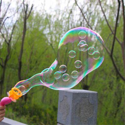 3IN1 Bubble Blower Fan Machine Toys Kids Soap Water Bubble Gun Summer Outdoor