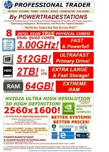 HP-TRADING-COMPUTER-10Monitor-XEON8Core3GHz-64GBRAM-512GBSSD-2TBHDD-W10P