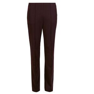 New Slim elasticizzato Pantalone Leg 10 8 viola Aubergine Straight M s ladies g5wrd0wq