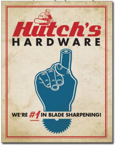 Hutch's hardware Metal tin sign blade sharpening home garage wall decor new