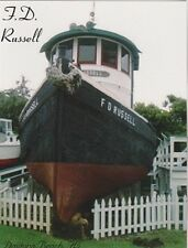 """+PC-Postcard-""""F. D. Russell Tugboat"""" (Ponce de Leon Lighthouse/Museum) (B314)"""