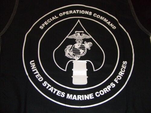 3XL USMC MARINES MARSOC MAR-SOC RASH GUARD RASHGUARDS LYCRA BLACK  SIZES  S