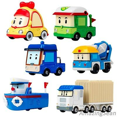 New Robocar Poli Diecast Toys, Mini, Benny, Rody, Micky, Marine, Terry, Amber