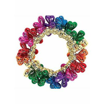 Pride Rainbow Drop Bead Bracelet Festival Parade Party Fancy Dress Accessories
