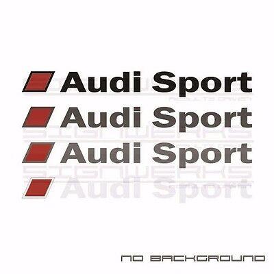 Audi Sport Heart Beat Pulse Decal Sticker EURO Racing mod A4 S4 S3 TT R8 A6 Pair