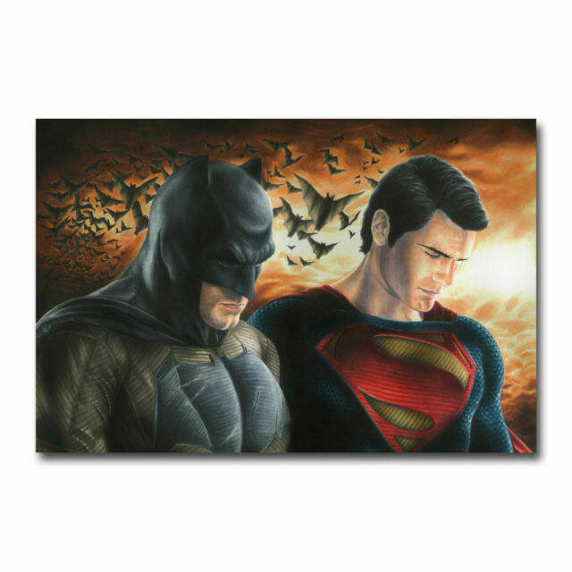 Batman Superman Poster or Canvas
